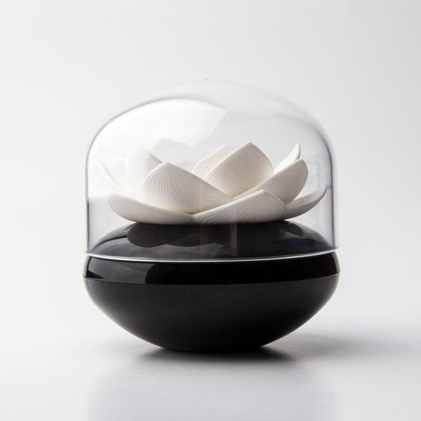 Držák na vatové tyčinky Lotus, bílá/černá