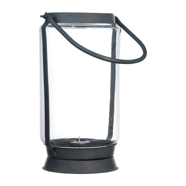 Skleněná lucerna, 28 cm
