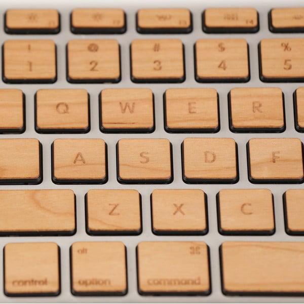 Dřevěný skin pro klávesnici Apple Macbook pro, třešeň