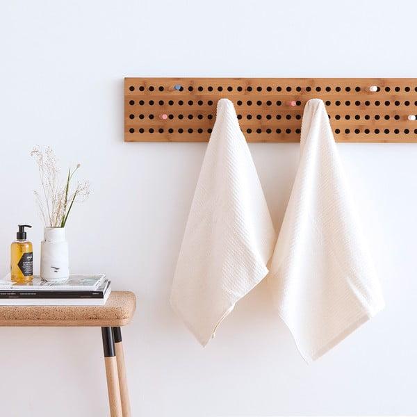 Sada 2 bílých froté ručníků Casa Di Bassi Stripe, 50x100cm
