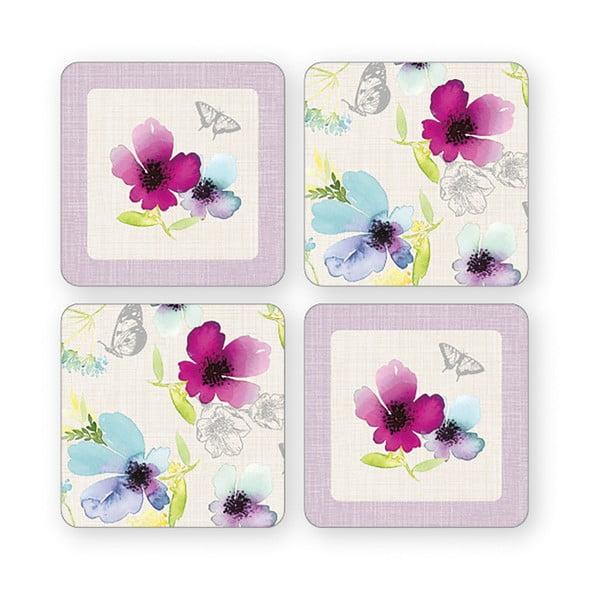 Set 4 suporturi pentru pahare Cooksmart Chatsworth Floral