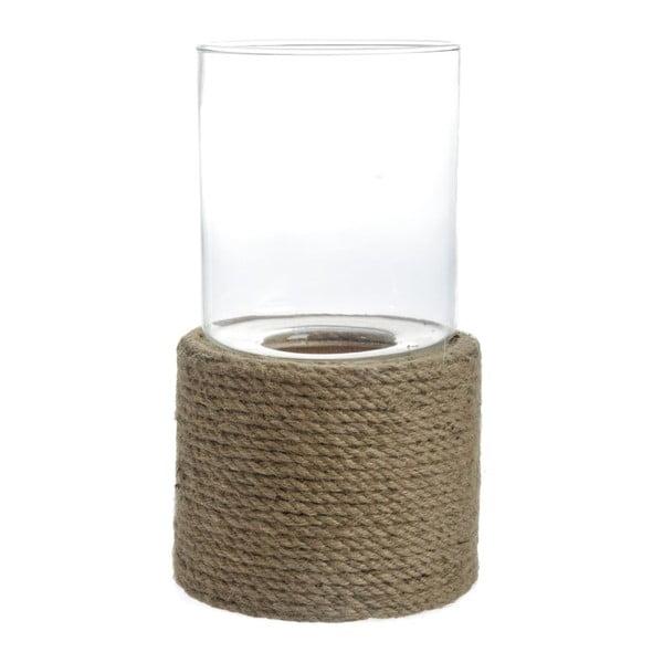 Svícen Rope Glass, 21x21x40 cm
