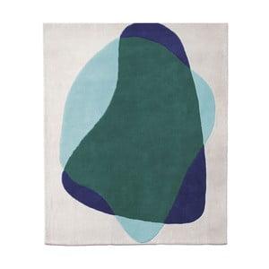Zeleno-šedý koberec z čisté vlny HARTÔ Jane, 180 x 220 cm