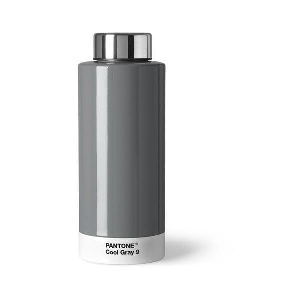 Světle šedá láhev znerezové oceli Pantone, 630ml