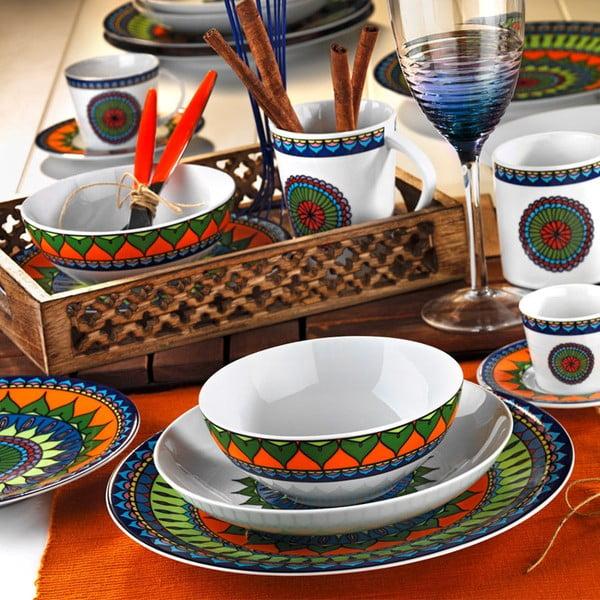 24dílná sada talířů z porcelánu Kutahya Bahamas