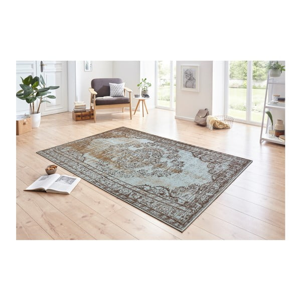 Modro-hnědý koberec Hanse Home Celebration Tarro, 80 x 150 cm