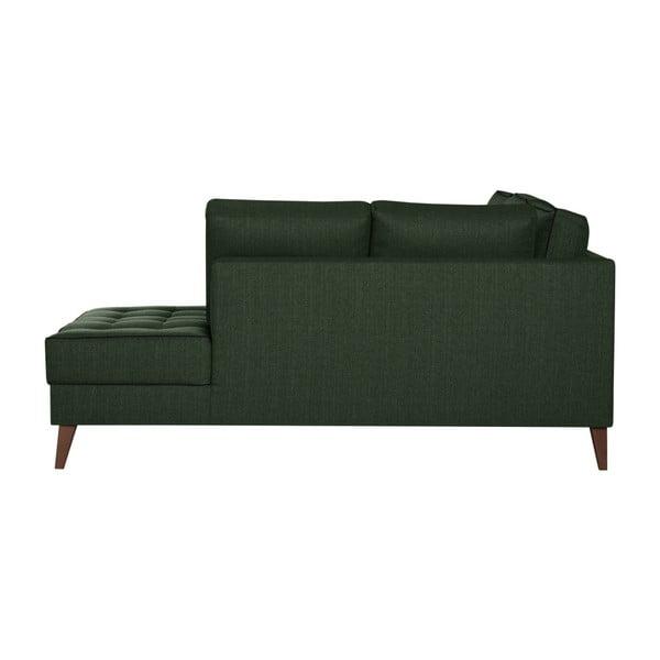 Canapea Stella Cadente Maison Atalaia, pe partea dreaptă, negru verde