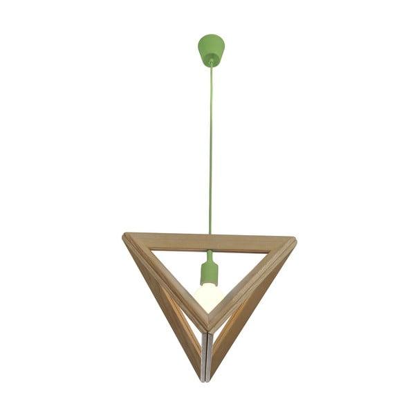 Závěsné světlo Triangle Green