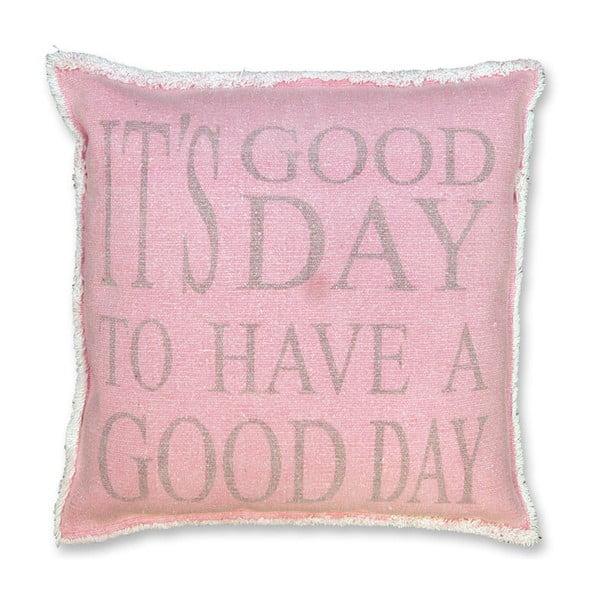 Polštář Good Day 45x45 cm, růžový