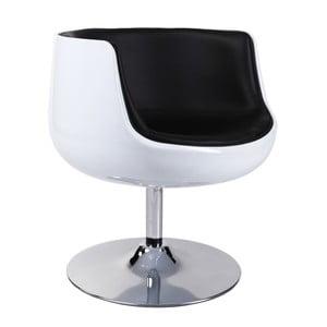 Otočná židle Cognac, bílá/černá