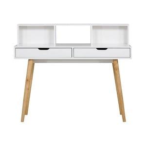 Bílý dřevěný pracovní stůl SOB York