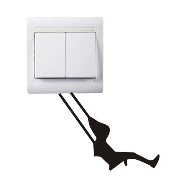 Dekorativní samolepka Swing, 7x9 cm
