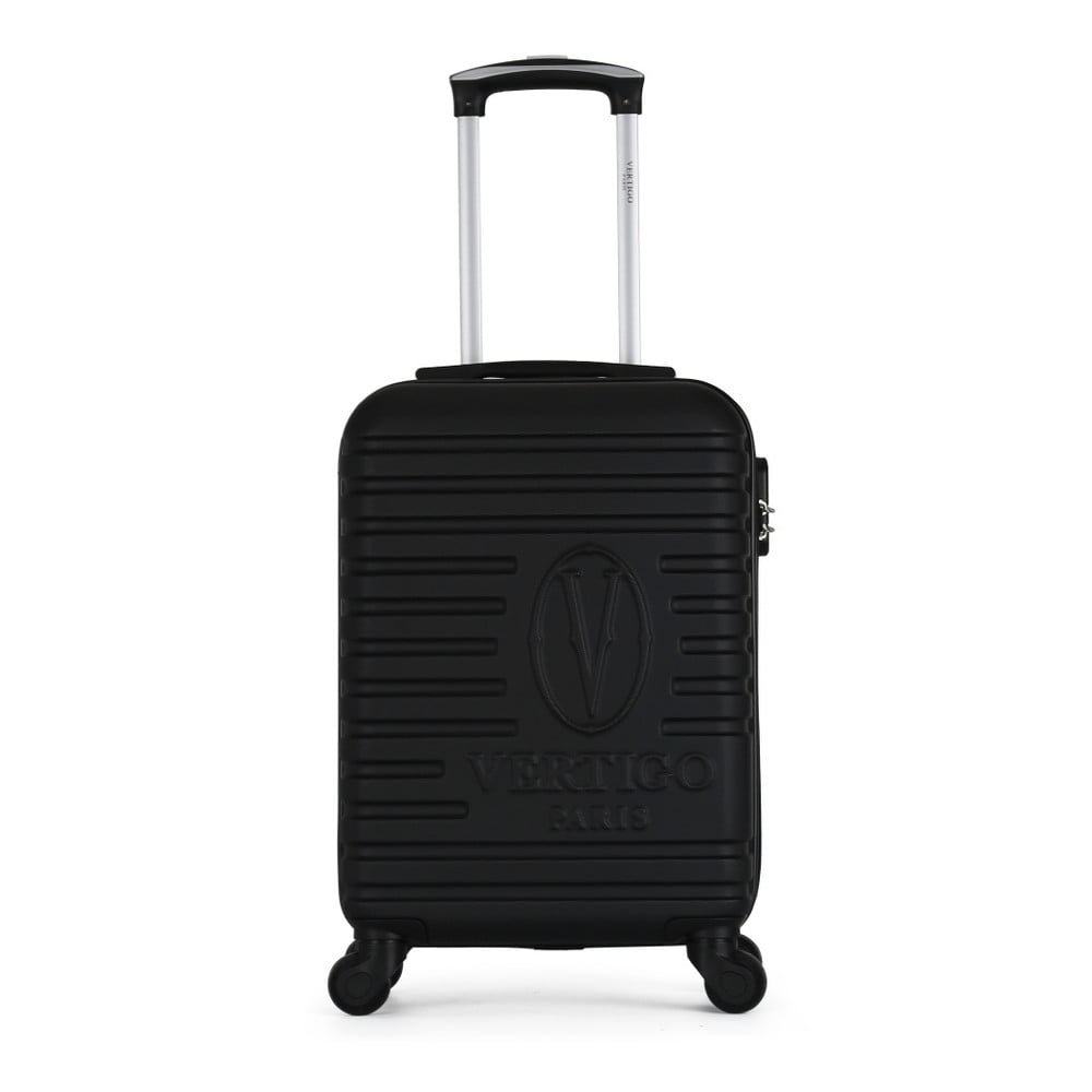 Černý cestovní kufr na kolečkách VERTIGO Valises Cabine Cadenas