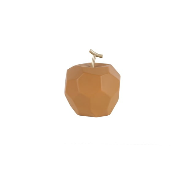 Decorațiune din beton PT LIVING Origami Apple, caramel mat