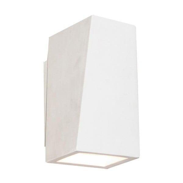Bílé nástěnné svítidlo ze sádry SULION Cubic
