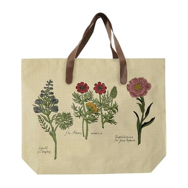 Sacoșă de pânză, model cu flori, Surdic Flowers