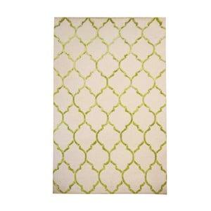 Vlněný koberec Chain Olive, 153x244 cm
