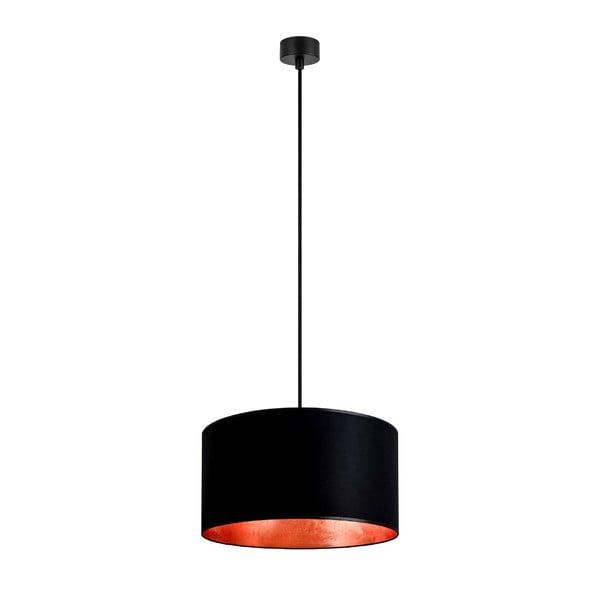 Černé stropní svítidlo s vnitřkem v měděné barvě Sotto Luce Mika, ⌀36cm