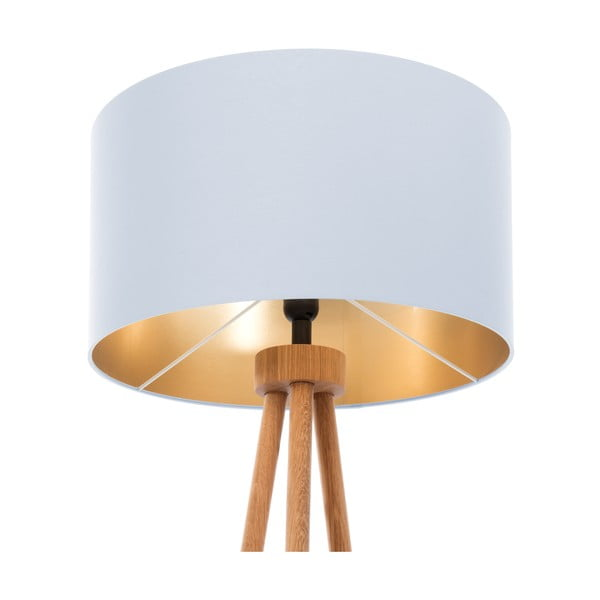 Stojací lampa Gold Inside Ice Blue