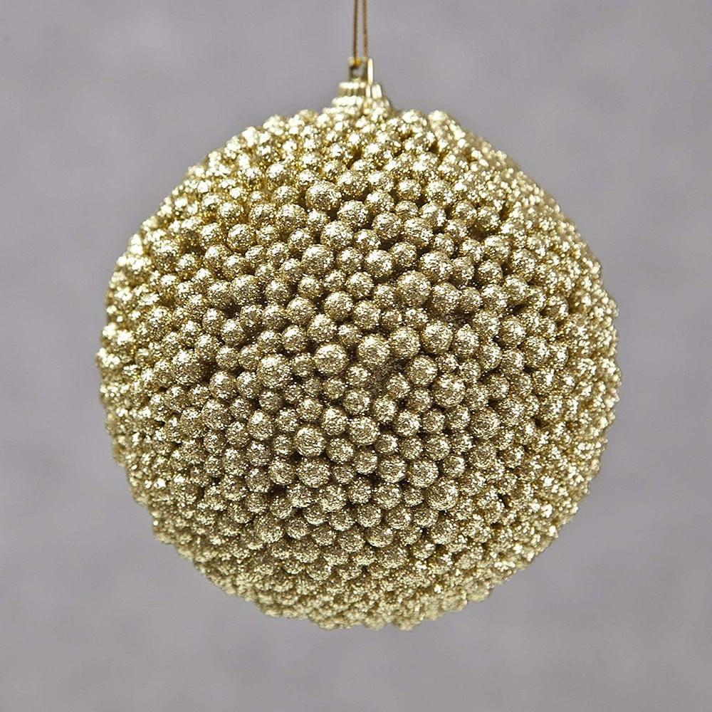 Sada 6 plastových vánočních ozdob ve zlaté barvě DecoKing Bolito