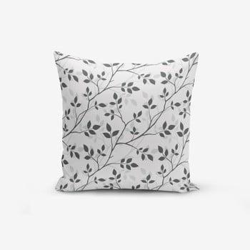 Față de pernă cu amestec din bumbac Minimalist Cushion Covers Grey Background Leaf, 45 x 45 cm de la Minimalist Cushion Covers