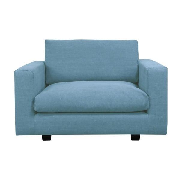Jasnoniebieski fotel Kooko Home Melody