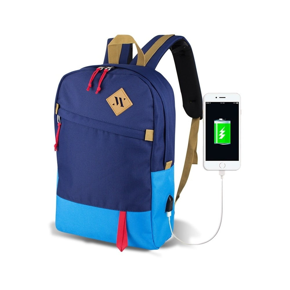 Modrý batoh s USB portem My Valice FREEDOM Smart Bag Mavi