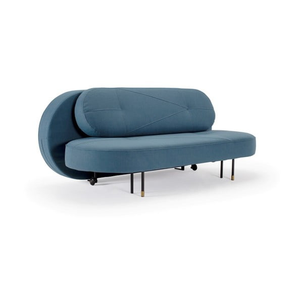Modrá rozkládací pohovka Innovation Filuca Elegance Petrol