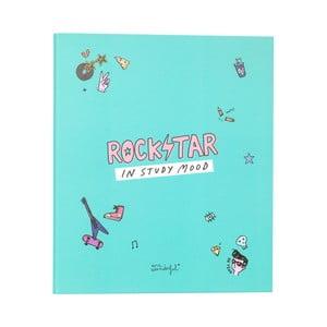Zelený linkovaný zápisník Mr. Wonderful Rockstar