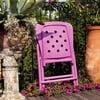 Skládací židle Zac Spring Purple, růžová