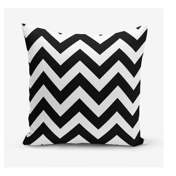Față de pernă Minimalist Cushion Covers Stripes, 45 x 45 cm, alb – negru de la Minimalist Cushion Covers