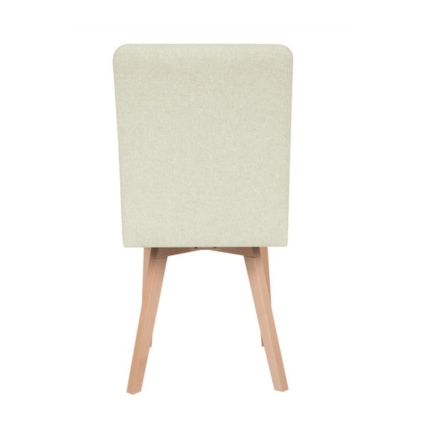 Krémová židle Micadoni Home Lucio