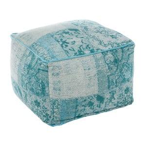 Sedací puf Cotton Aqua, 60x40 cm