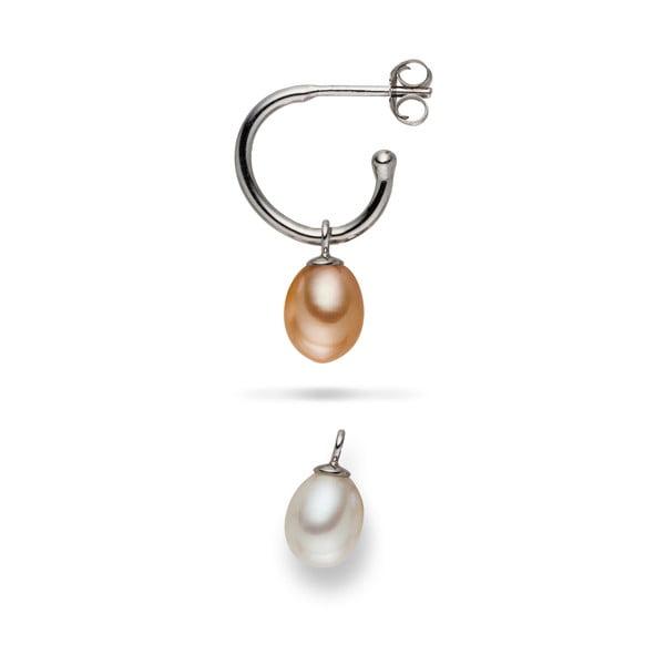 Náušnice Yamato Pearls s vyměnitelnými přívěsky Nude Beauty