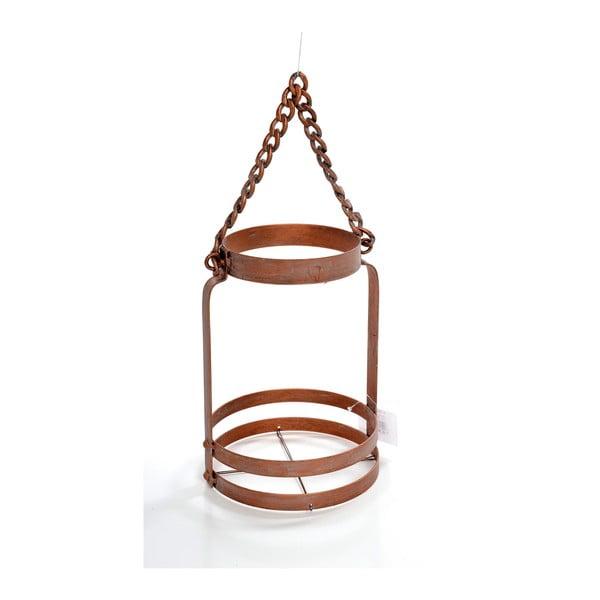 Kovová lucerna Copper, 15x15x24 cm