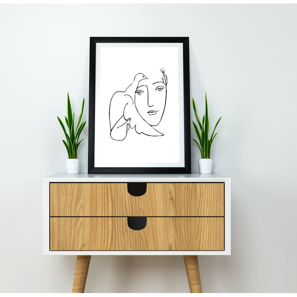 Line Drawing Picasso poszter, 30 x 40 cm - Blue-Shaker