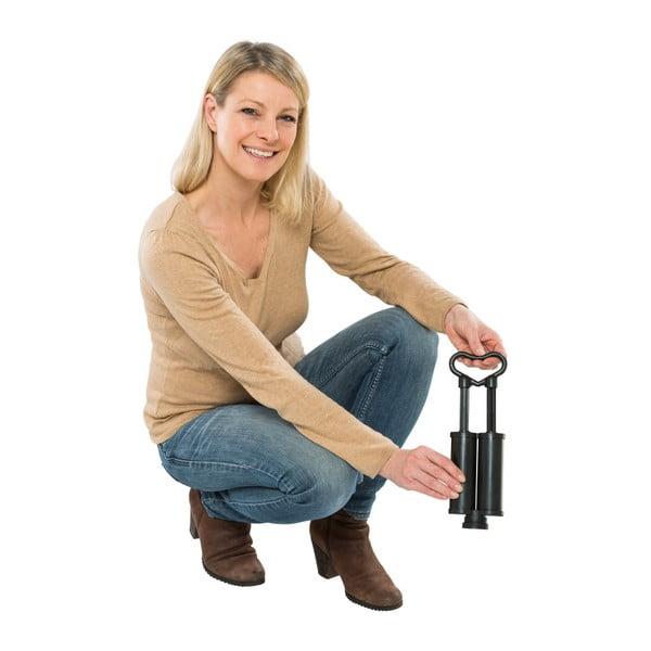 Set 5 cestovních vakuových sáčků a pumpy na oblečení Wenko