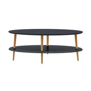 Grafitově šedý konferenční stolek se sníženou spodní deskou Ragaba OVO