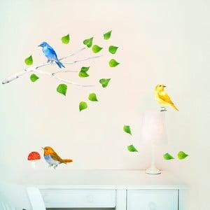 Znovu snímatelná samolepka Birds Branch, 47x26 cm