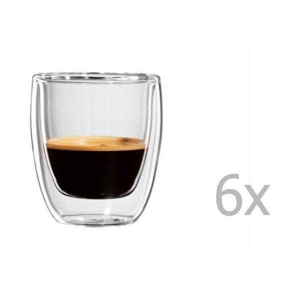 Sada 6 hrnků na espresso bloomix Roma