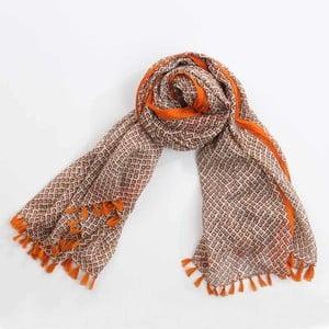 Šátek, oranžová/hnědá