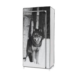 Textilní šatní skříň Compactor Wolf, výška160cm