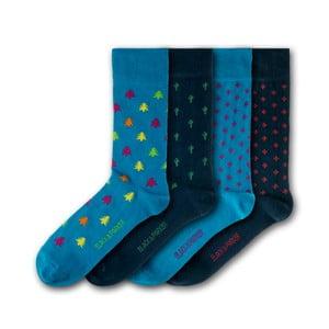 Sada 4 párů ponožek Black & Parker London Dublin, vel.37-43