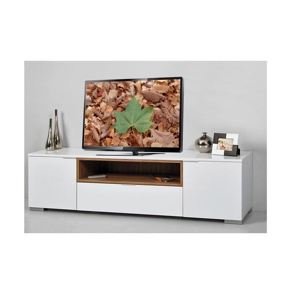 Televizní stolek Grand, bílý/samba