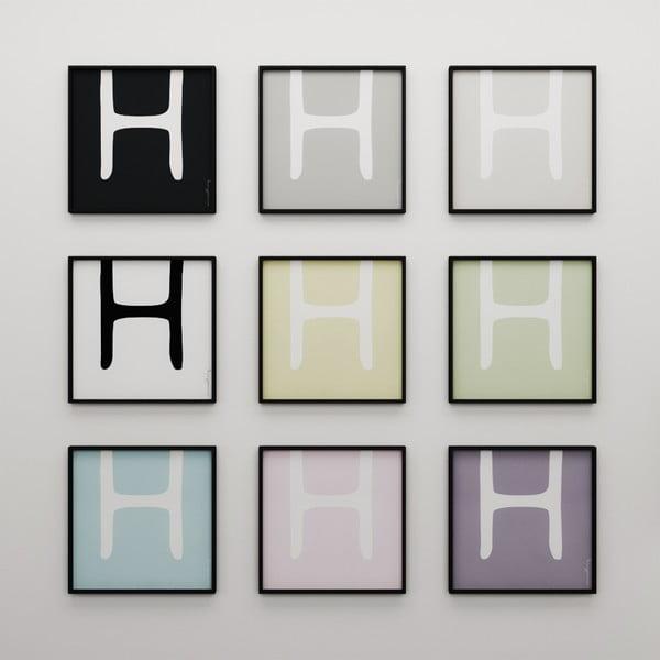 Plakát Litera H, 50x50 cm