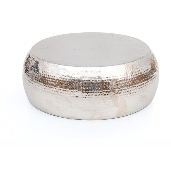 Stolik w srebrnym kolorze WOOX LIVING Kim, ⌀ 83 cm