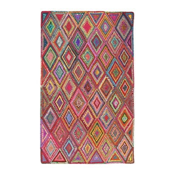 Covor din bumbac Eco Rugs Whimsical Geo, 80 x 150 cm