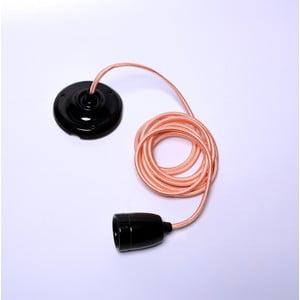 Kabel pro stropní světlo ve zlaté barvě s černou objímkou Filament Style Diamond