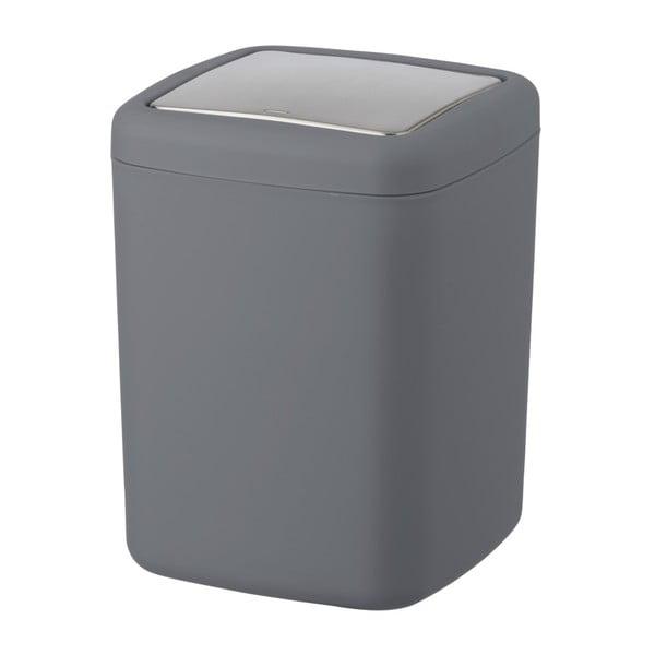 Antracitovosivý odpadkový kôš Wenko Barcelona S, výška 20 cm