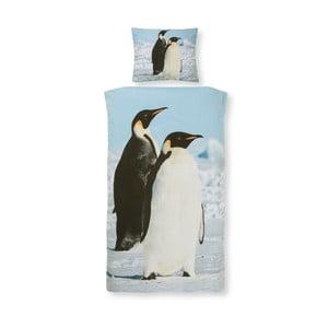 Bavlněné dětské povlečení na jednolůžko Ekkelboom Penguin, 140 x 200 cm